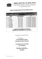 Calendário das Reuniões Ordinárias da Câmara Municipal de Minas Novas (Exercício de 2021) - 02º Semestre