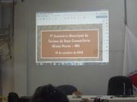01º Seminário Municipal de Turismo de Base Comunitária de Minas Novas