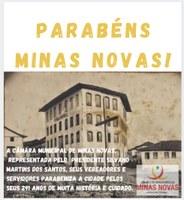 291 anos de muita história - Parabéns, Minas Novas!