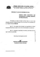 COMUNICADO DA CÂMARA MUNICIPAL DE MINAS NOVAS