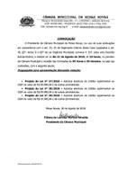 Convite - 04ª Reunião Extraordinária da Câmara Municipal (Exercício de 2018)