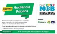 Convite - Audiência Pública (Plano de Mobilidade Urbana-MOB de Minas Novas)