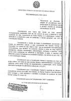 Recomendação nº 001/2018 – Ministério Público do Estado de Minas Gerais