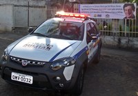 Solenidade para entrega de viatura à Polícia Militar de Minas Novas