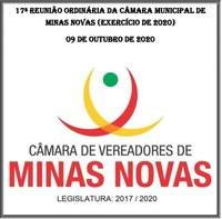 17ª Reunião Ordinária da Câmara Municipal de Minas Novas (Exercício de 2020)