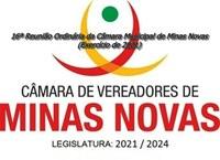 16ª Reunião Ordinária da Câmara Municipal de Minas Novas (Exercício de 2021)