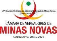 17ª Reunião Ordinária da Câmara Municipal de Minas Novas (Exercício de 2021)