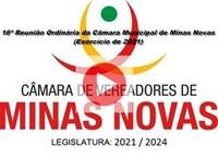 18ª Reunião Ordinária da Câmara Municipal de Minas Novas (Exercício de 2021)